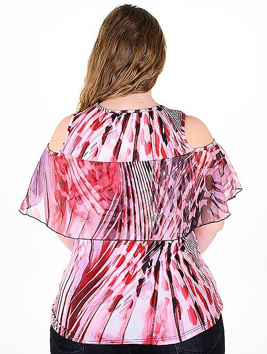 Оригинална блуза с модерен принт