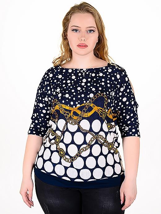 Свежка блуза с модерен принт
