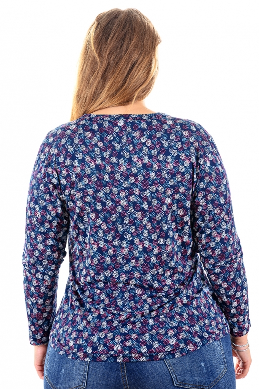 Цветна риза подходяща за всякакви поводи (син с цветни точки)