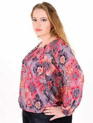 Цветна, свежа блузка подходяща за ежедневието (червен)