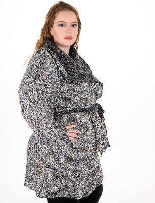 Красива и стилна дамска макси жилетка (пъстър)