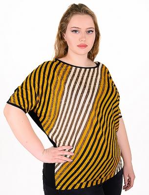 Макси блуза от цветни раета