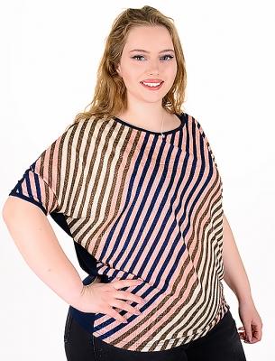 Макси блуза от цветни раета.