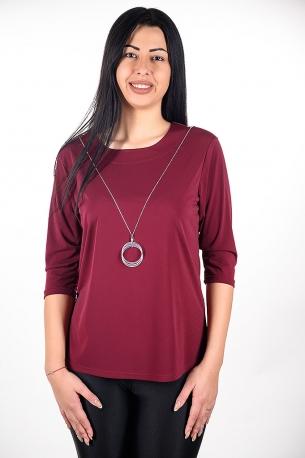 Официална блуза с гердан (бордо)