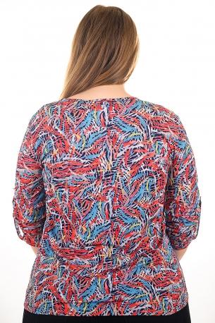 Риза от цветен принт (шарен с цветни орнаменти)