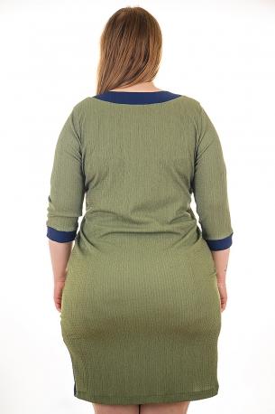 Елегантна рокля с оргинална апликация (зелен)