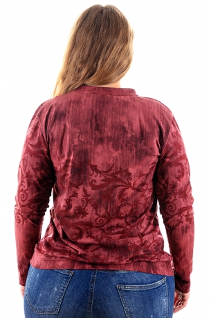 Мека и топла блуза (бордо)