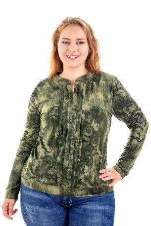 Мека и топла блуза (зелен)