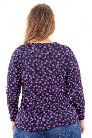 Цветна риза подходяща за всякакви поводи (черно с цветни точки)