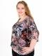 Макси блуза от ефирен шифон с хастар от естествен материал