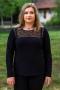 Ежедневна дамска блузка (черен)