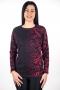 Удобна и мека блуза за ежедневието (черно с бордо)