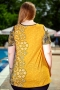 Оригинална туника с голи рамене (жълт)